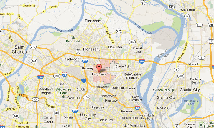 Appliance repair in Ferguson Mo 63135, 63136, 63145 Map Service Areas